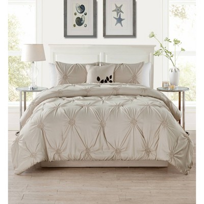 London Comforter Set 4Piece Taupe - VCNY®