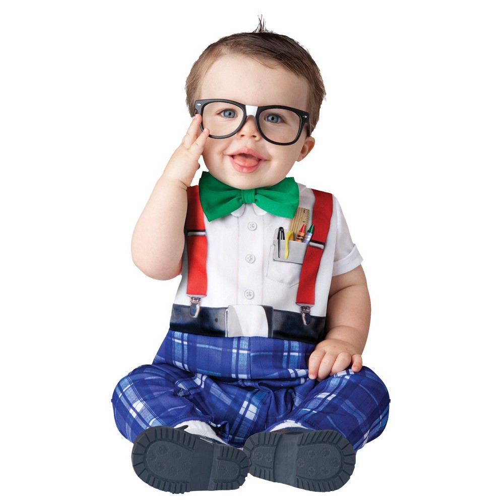Image of Halloween Boys' Nursery Nerd Toddler Costume 6-12, Boy's, Size: 6-12M, MultiColored