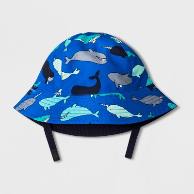 Baby Boys' Whale Bucket Hat - Cat & Jack™ Blue 6-12M