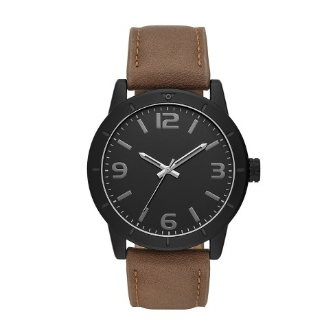 Men's Strap Watch - Goodfellow & Co™ Black - image 1 of 1