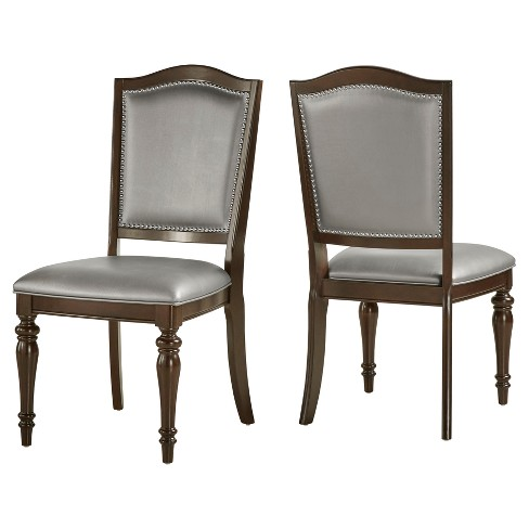 Marist Nailhead Accent Dining Side Chair (Set of 2) - Inspire Q - image 1 of 3