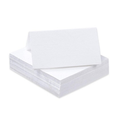 Sustainable Greetings 60-Pack Plain White Blank Seating Tent Cards Table Number Signs Place Cards, 2 x 3.5 in