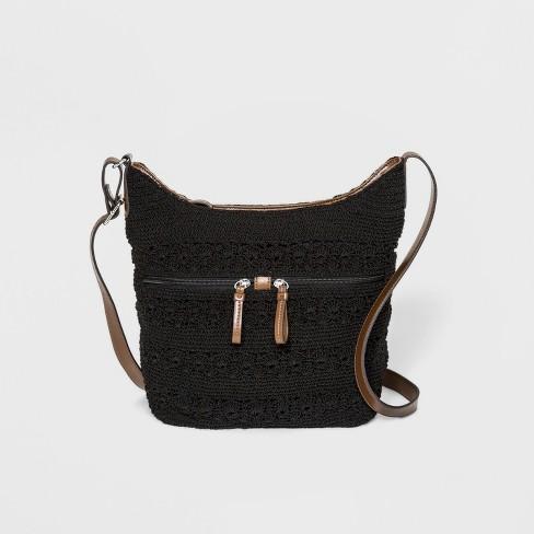 Bueno Crochet Hobo Handbag - image 1 of 3