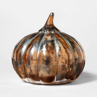 6  x 5  Light-Up Glass Pumpkin Silver - Threshold™