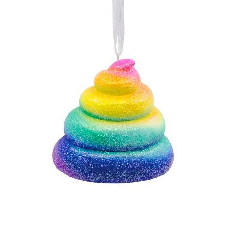 hallmark rainbow emoji christmas ornament target