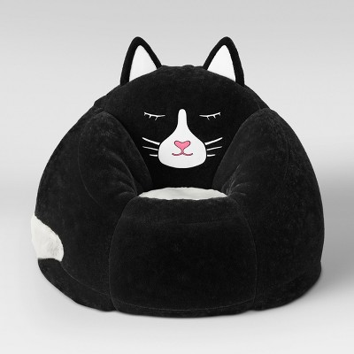 Character Bean Bag Chair Black Cat - Pillowfort™