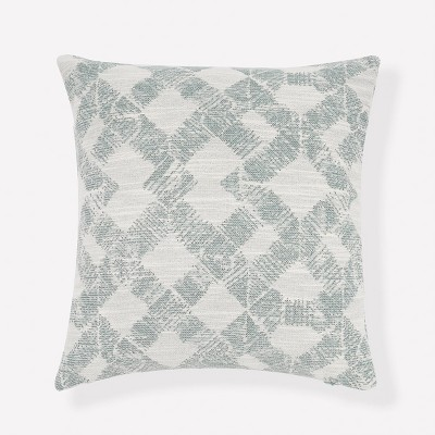 "20""x20"" Geo Diamond Chenille Jacquard Throw Pillow - freshmint"