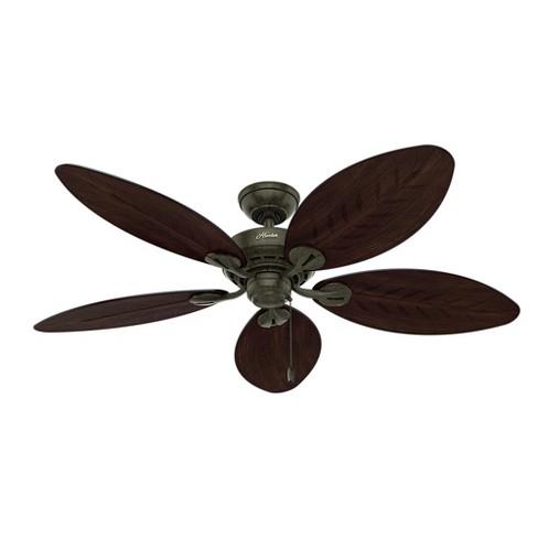 Strange 54 Bayview Outdoor Ceiling Fan Black Hunter Fan Download Free Architecture Designs Scobabritishbridgeorg