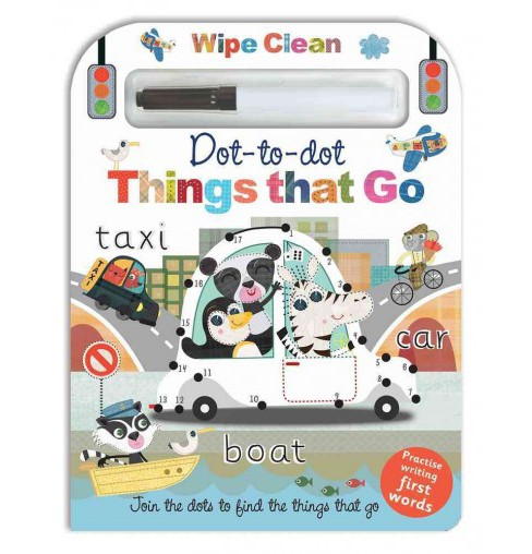 Wipe Clean Dot-to-dot Things That Go (Hardcover) (Nat Lambert) - image 1 of 1