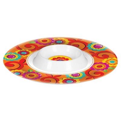 Fiesta Chip and Dip Bowl