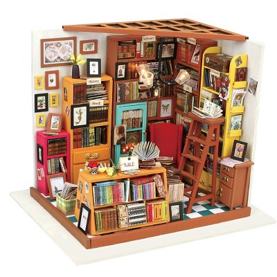 Hands Craft DIY 3D Wooden Puzzles - Miniature House: Sam's Study