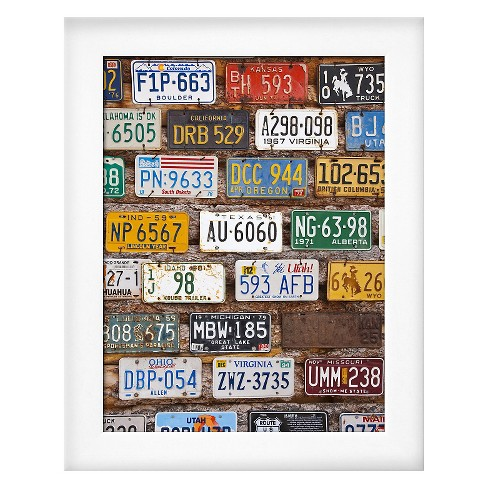 Art.com Framed Wall Poster Print Hole in the Rock Tourist Shop With Old License Plates - image 1 of 2
