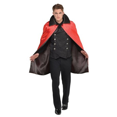Adult Collared Reversible Cape Halloween Costume Accessory