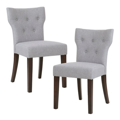 Set Of 2 Saffron Tufted Back Dining Chair Gray Target