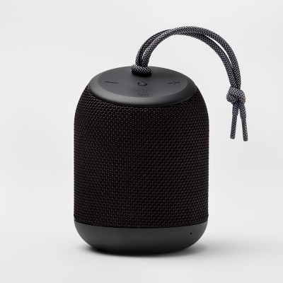 heyday™ Cylinder Portable Bluetooth Speaker with Strap - Black
