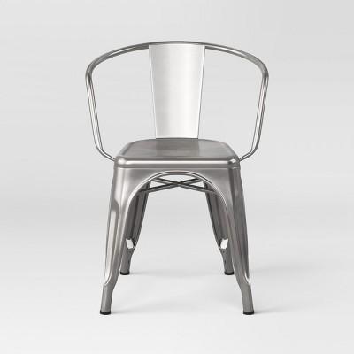 Carlisle Metal Dining Chair Natural Metal Ships Flat - Threshold™
