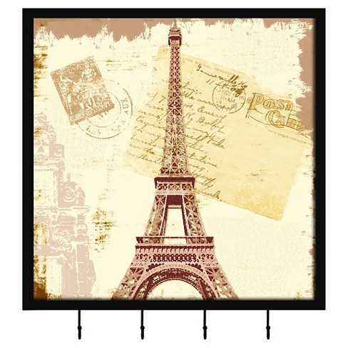 Paris Postcard II Decorative Box With Metal Hooks - image 1 of 1