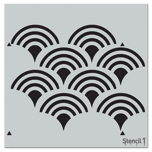 """Stencil1 Scallop Repeating - Wall Stencil 11"""" x 11"""" - image 1 of 3"""
