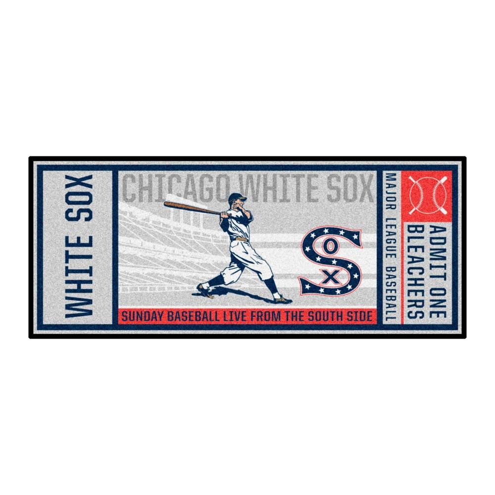 Mlb Chicago White Sox 1917 30 34 X72 34 Retro Ticket Runner Mat