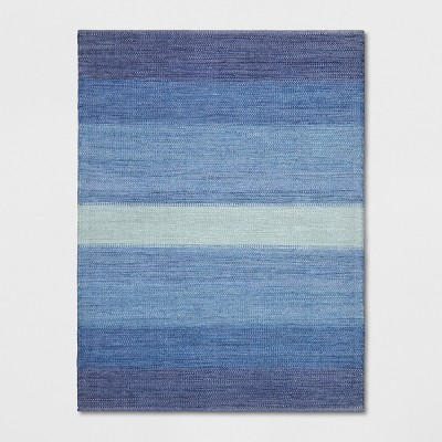 9'X12' Stripe Woven Area Rugs Blue - Threshold™