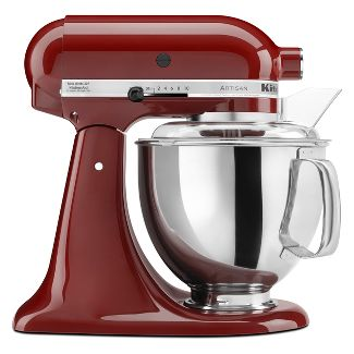 KitchenAid Refurbished Artisan Series Stand Mixer - Deep Red RRK150GC