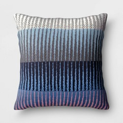 Ombre Outdoor Decorative Throw Pillow Pink/Blue/Gray - Project 62™