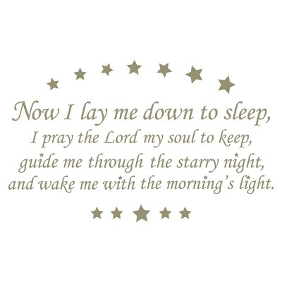 WallPops® Baby Wall Wishes Prayer Wall Decal