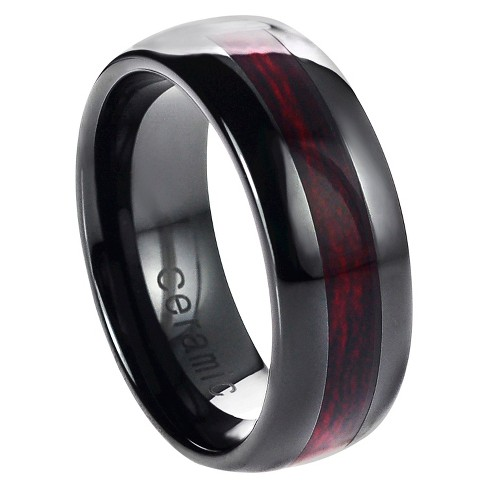 Men's Daxx Ceramic Band with Wood Inlay - image 1 of 4