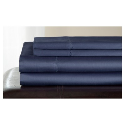 Full 500 Thread Count Andiamo Cotton Sheet Set Pacific Blue