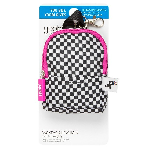 a4727d97de05 Yoobi Coin Purse Keychain Mini Backpack Component - Black White ...