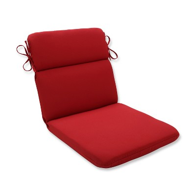 Pompeii Outdoor Rounded Corners Seat Cushion Red - Pillow Perfect
