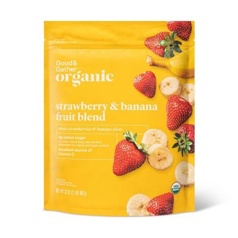 Organic Strawberry & Banana Frozen Fruit Blend - 32oz - Good & Gather™ - image 1 of 2