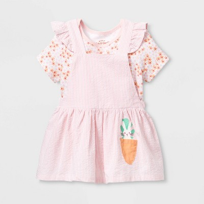 Baby Girls' Short Sleeve Skirtall Top & Bottom Set - Cat & Jack™ Pink 12M