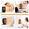 Geek Heat Personal Portable Oscillating Ceramic Space Heater with Overheat Protection for Home, Office, Living Room, and Bedroom, Black - image 2 of 4