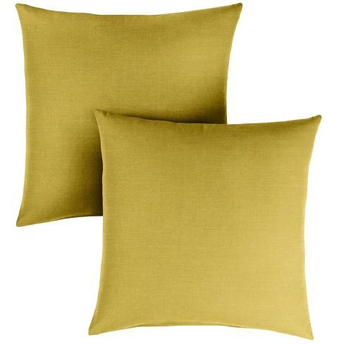 2pk 18 Sunbrella Outdoor Throw Pillows Citrus Target