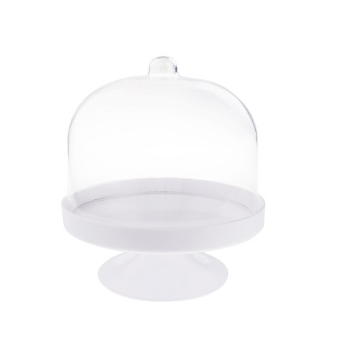 White Plastic Cake Stand And Cover Spritz Target