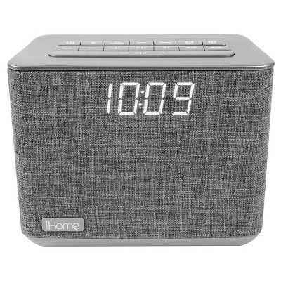 iHome® iBT232 Clock Radio - Gray
