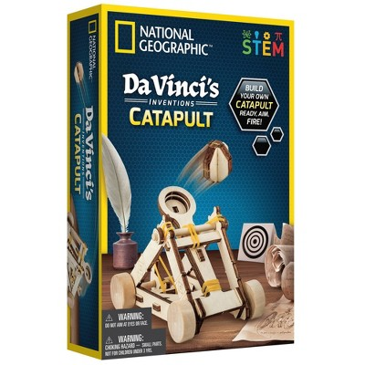 National Geographic Da Vinci's Inventions Catapult Science Kit