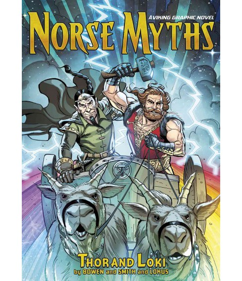Norse Myths : Thor and Loki: a Viking Graphic Novel (Paperback) (Carl Bowen) - image 1 of 1
