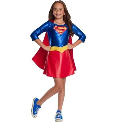 Rubie's Girls' DC Comics Supergirl Deluxe Halloween Costume