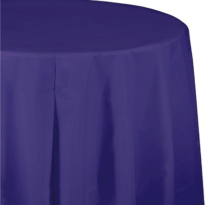 Purple Disposable Tablecloth