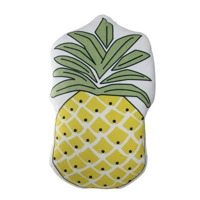 "Northlight 18"" Pineapple Shaped Plush Fleece Indoor Throw Pillow - Green/Yellow"