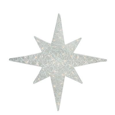 """Brite Star 36"""" Lighted White Glitter Star of Bethlehem Christmas Outdoor Decoration"""