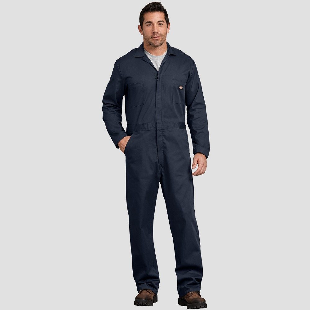 Dickies Men's Tall Straight Fit Overalls - Deep Navy Xlt