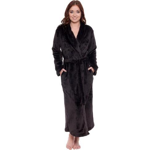 Silver Lilly - Women's Full Length Plush Luxury Bathrobe - image 1 of 4