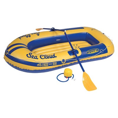 Stansport 2 Person Sea Cloud Vinyl Boat Kit - Yellow/Blue