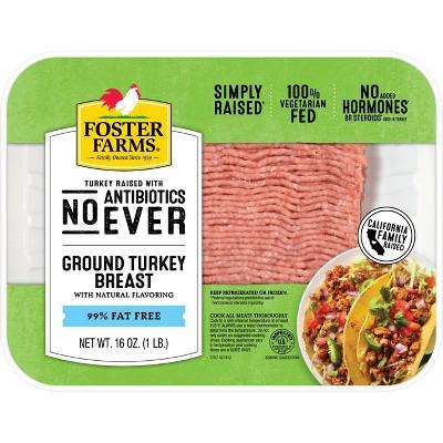 Foster Farms Antibiotic Free 99/1 Ground Turkey Breast 16oz