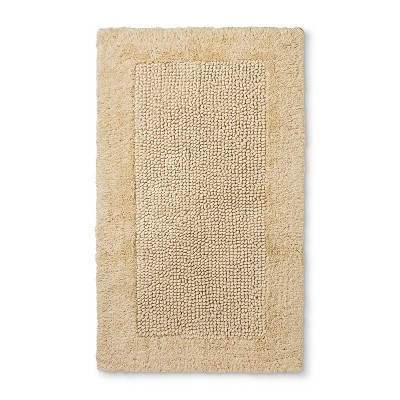 20 X34  Performance Textured Bare Canvas Bath Rugs And Mats Cream - Threshold™