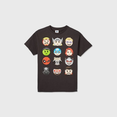 Boys' Marvel Short Sleeve Graphic T-Shirt - Black