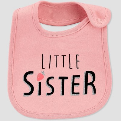 Baby Girls' Little Sister Bib Set - Just One You® made by carter's Pink